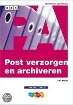 Post verzorgen en archiveren Informatieboek niveau 2, 3 en 4