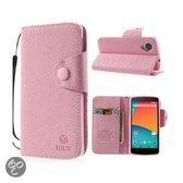 LG Nexus 5 MLT Wallet Stand Case Pink