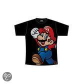 Nintendo Maat XL Zwart Super Mario T-shirt