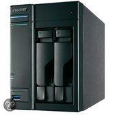 Asustor AS-202TE 2-Bay 0TB - NAS Server - HDMI uitgang