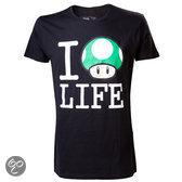 Nintendo - I Love Life T-Shirt - M (Black)