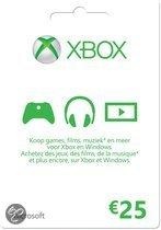 Microsoft Xbox Live - 25 euro Kaart (Xbox 360 + Xbox One)