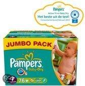 Pampers Baby Dry - Luiers Maat 4+ - Jumbo Pack plus 76st