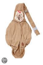 Lodger Shelter Free Fleece 2.0 - Multifunctionele babydrager en inwikkeldeken - 0-18 mnd - Sepia