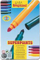 Super Points Blik - 10 Viltstiften
