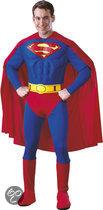 Superman Deluxe Muscle - Kostuum - Maat S - Rood