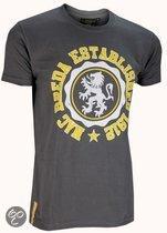 Nac breda T-shirt leeuw grijs maat m