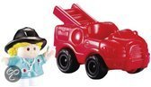 Fisher-Price Voertuig little people brandweerwagen