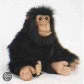 Pluche chimpansee knuffel 25 cm