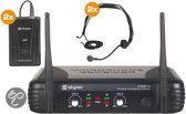 Skytec Home entertainment - Speakers STWM712H 2-kanaals VHF Draadloos Microfoonsysteem met headsets