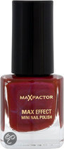 Max Factor Max Effect - 13 Deep Mauve - Rood - Mini Nail Polish
