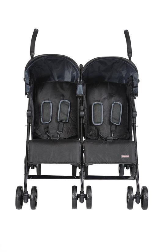 Top Mark twin buggy staal zwart