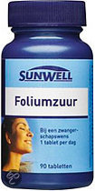 Sunwell Foliumzuur - 90 Tabletten - Vitaminen