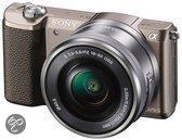 Sony Alpha 5100 + 16-50 mm - Systeemcamera - Bruin