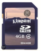 Kingston SD Card High Capacity 4GB class 4 - geheugenkaart