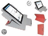 Acer Iconia Tab A100 A101 Diamond Class Polkadot Hoes met 360 graden Multi-stand, Rood, merk i12Cover