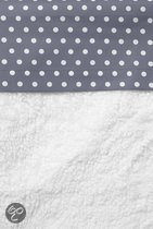 Cottonbaby - Ledikantlaken Met Stip 120x150 cm - Antraciet