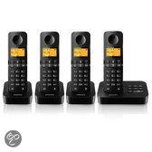Philips D205 - Quattro DECT telefoon met antwoordapparaat - Zwart