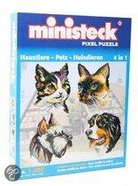 Ministeck Pixel puzzle huisdieren 4 in 1 1400