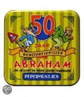 Pepermunt Blikje - Abraham 50 jaar (incl. 70 gram pepermunt)