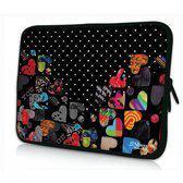 Sleevy 11,6 inch laptophoes macbookhoes gekleurde hartjes