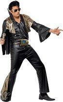 Elvis kostuum zwart/goud 48-50 (m)