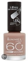 Rimmel 60 seconds finish nailpolish - 500 Caramel Cupcake - Nailpolish