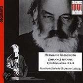 Documents - Brahms: Symphonies nos 3 & 4 / Hermann Abendroth, Leipzig RSO