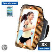 qMust Samsung Galaxy S3 mini Sport Armband met led-lampjes (orange)