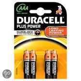 Duracell Plus Power AAA Alkaline Batterijen 4x Pak