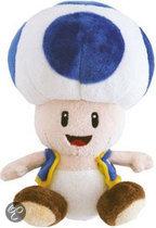 Nintendo Toad Blauw  17Cm Knuffel