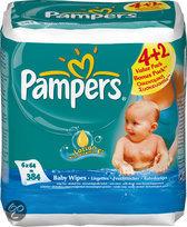 Pampers Baby fresh - Doekjes Navulpak 6x64st
