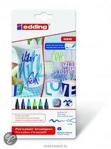Porselein marker edding 4200-6099 blauwe  kleuren set á 6 kleuren