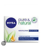 NIVEA Pure & Natural - 50 ml - Nachtcrème