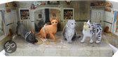 Newray Cat&amp dog set bruine kat