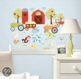 RoomMates - Muursticker Happi Barnyard - Multi