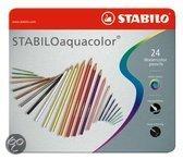 STABILO Aquacolor Metaal Etui - 24 stuks
