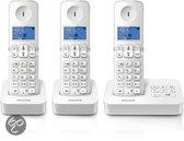 Philips D3153W - Trio DECT telefoon met antwoordapparaat - Wit