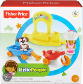Fisher-Price Little People driewieler met wagentje