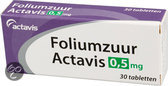 Actavis Foliumzuur 0,5 mg Tabletten - 30 st