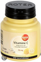Roter Vitamine C Citroen 70 mg - 200 Kauwtabletten