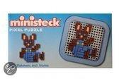 Ministeck Konijn met broek mini pixel puzzle met frame 8 x 8cm
