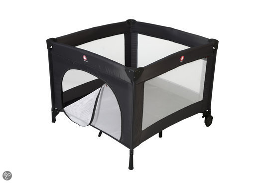 Top Mark - Logeerbed/ box in tas 'Parker' - Zwart