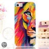 iPhone 5, 5s Leeuwen print TPU case, cover, hoesje