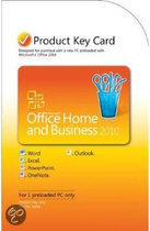 Microsoft Office Home And Business 2010 Eng PC Attach Key Pkc Microcase