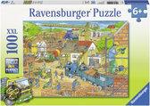Huizenbouw - Kinderpuzzel - 100 Stukjes