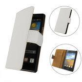 TCC Luxe hoesje LG Optimus L3 Book Case Flip Cover E400 - Wit