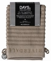 Riverdale Washandjes - Days - Beige - Set van 4