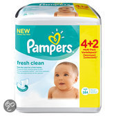 Pampers Fresh Clean - Doekjes Navulpak 6x64 st.