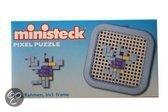 Ministeck Vogel mini pixel puzzle met frame 8 x 8cm
